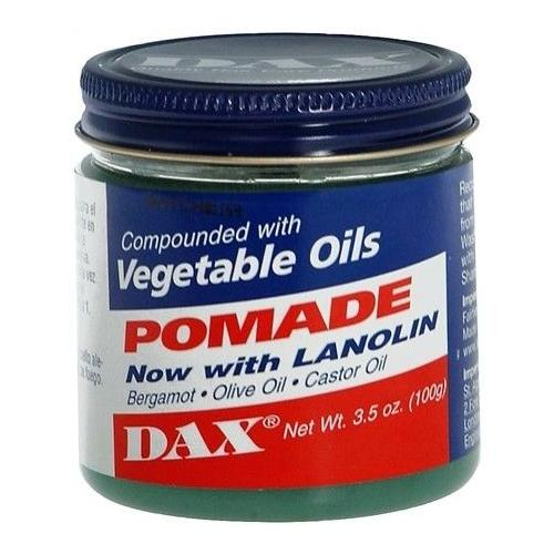 Dax pomade compounded with veg oils